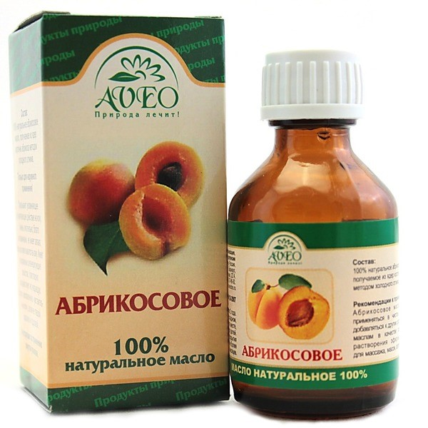 Флакон с абрикосовым маслом производителя Aveo