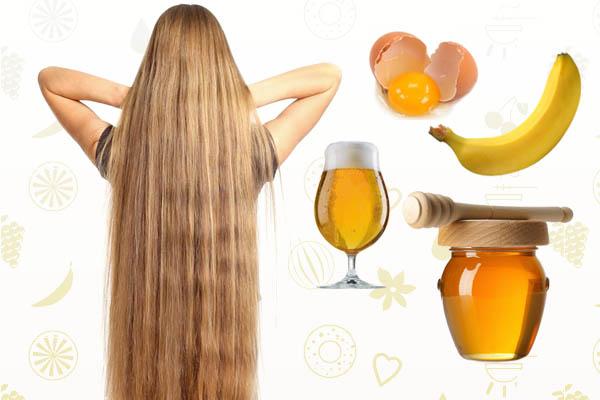 Банан и пиво – как компоненты медово-яичной маски