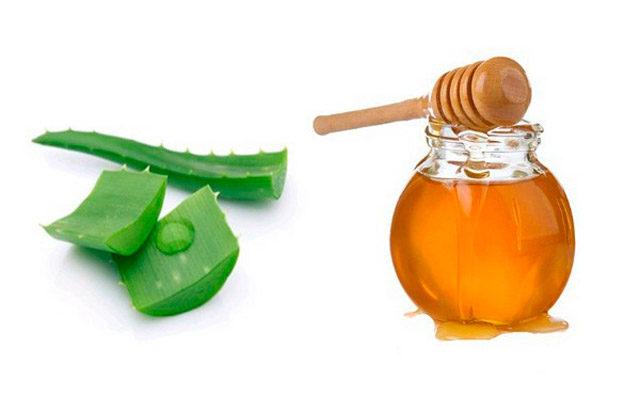 Смесь на основе мёда и сока алоэ