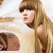 Черный хлеб поможет волосам