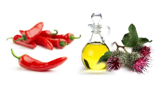 Маска на основе масла и красного перца
