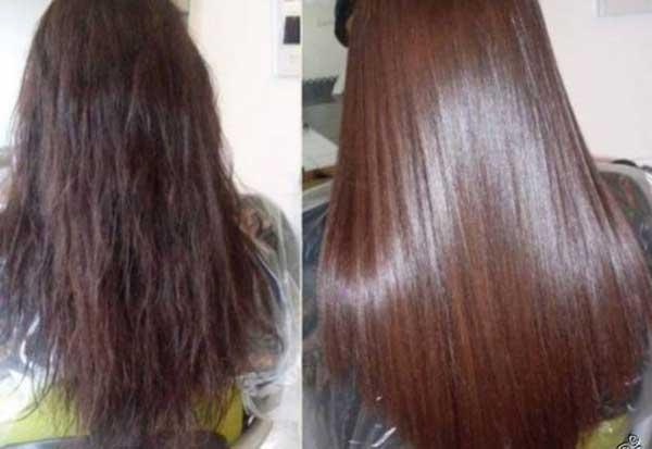 Так выглядят волосы до применения процедуры восстановления и после нее