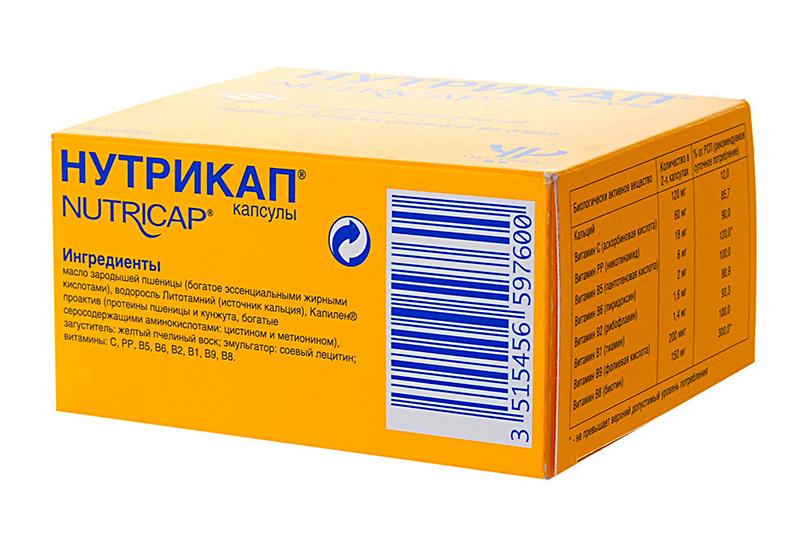 «Нутрикап» – поливитаминное средство для укрепления локонов