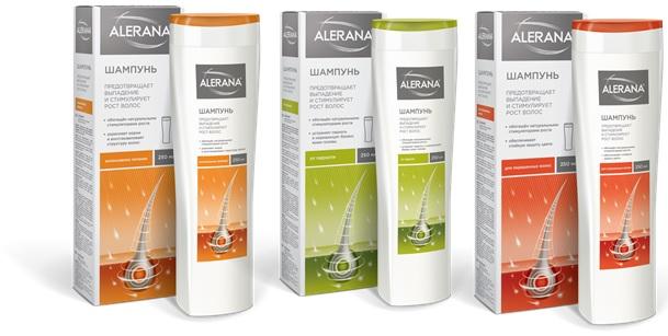 Линейка лечебных шампуней «Алерана» выпускается для волос разных типов