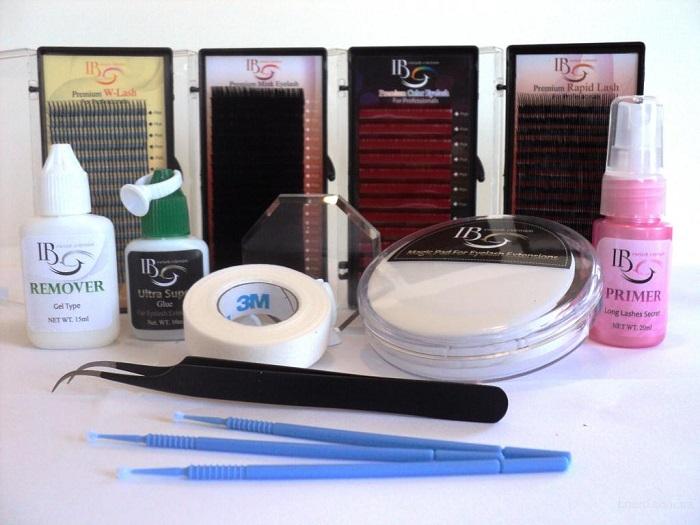Материалы и инструменты для пучкового наращивания