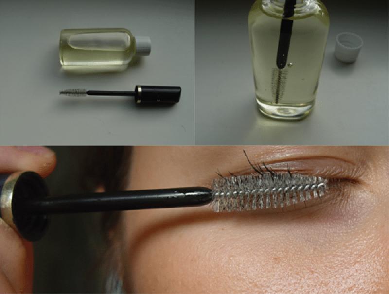 Как нанести касторовое масло на ресницы