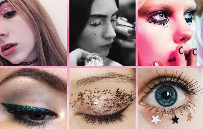 Существует множество различных вариантов блестящего макияжа для глаз