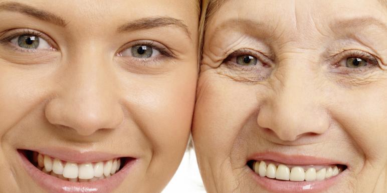 Первыми признаками старения являются морщины