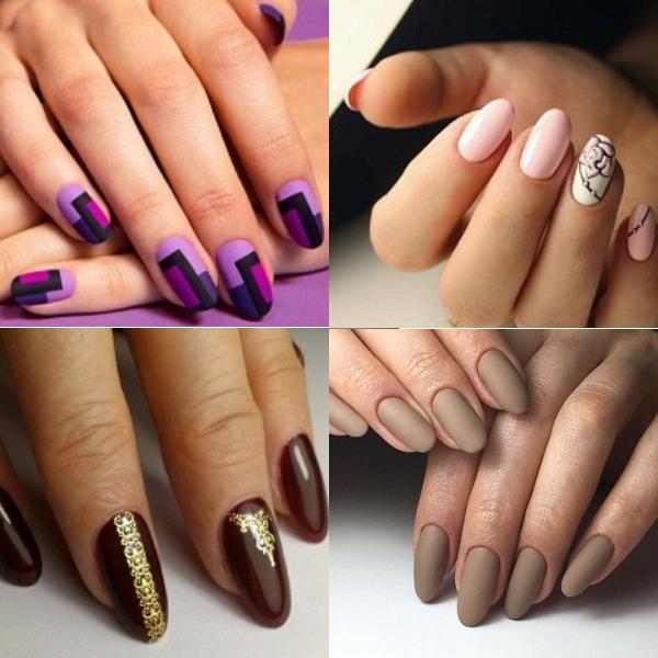 Виды оформления овальных ногтей