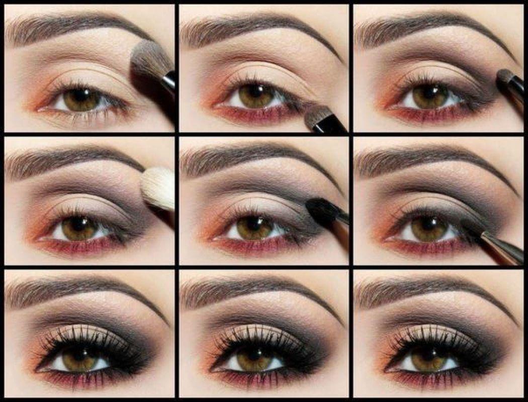 Коричневые оттенки хорошо подходят для каре-зеленых глаз