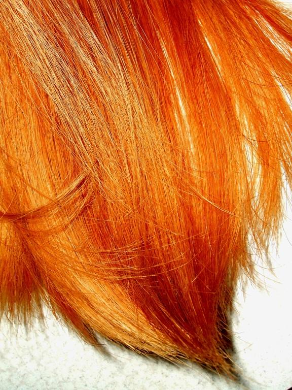 Огненно-рыжий оттенок волос