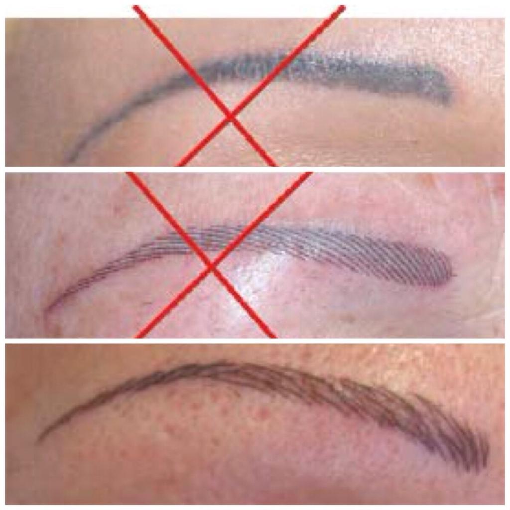Сразу после процедуры может быть заметно легкое покраснение, но брови должны смотреться естественно и натурально
