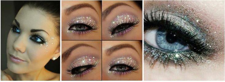 Блестящий макияж для глаз
