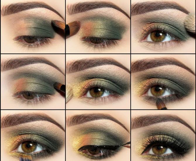 Поэтапное выполнение вечернего макияжа