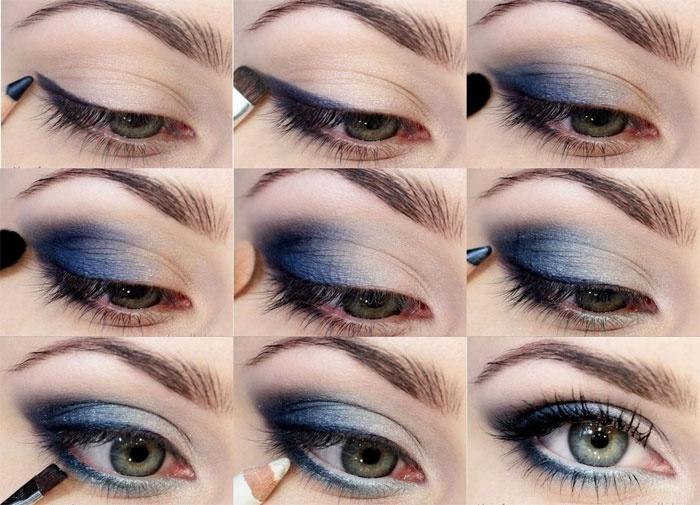 Пример удачного смоки для голубоглазых девушек