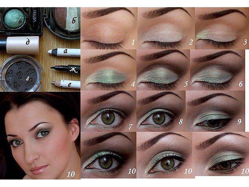 Более яркий дневной макияж