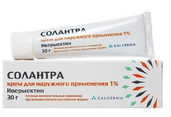 Солантра – крем для наружного применения