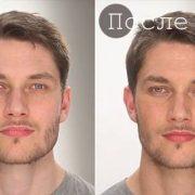 Мужской макияж до и после
