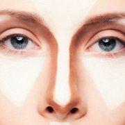Уменьшение носа с помощью макияжа