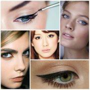 Подводка глаз – яркий штрих в макияже девушки