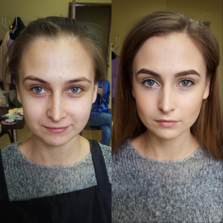 Преображение лица с помощью естественного макияжа