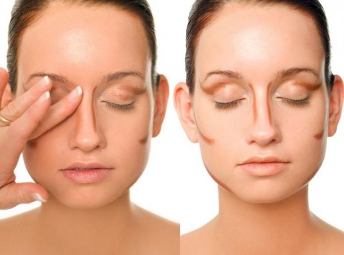 Контуринг широкого носа, фото до и после