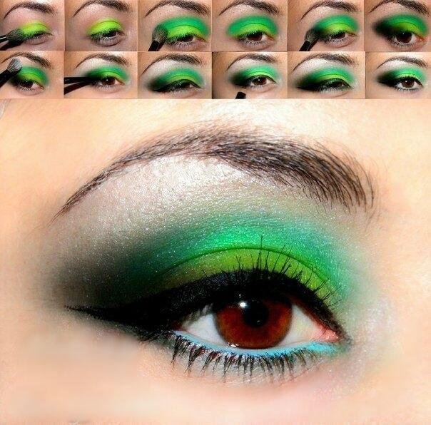 Makeup в зеленых тонах