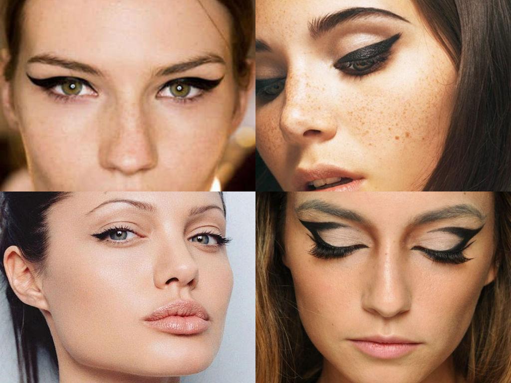 Форма стрелки подчеркивает выразительность и одновременно маскирует дефекты глаз