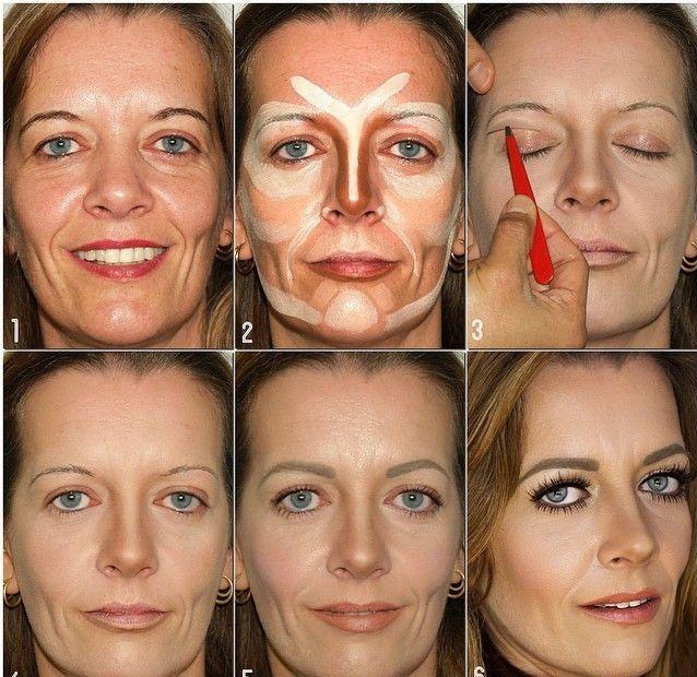 Нанесение возрастного макияжа