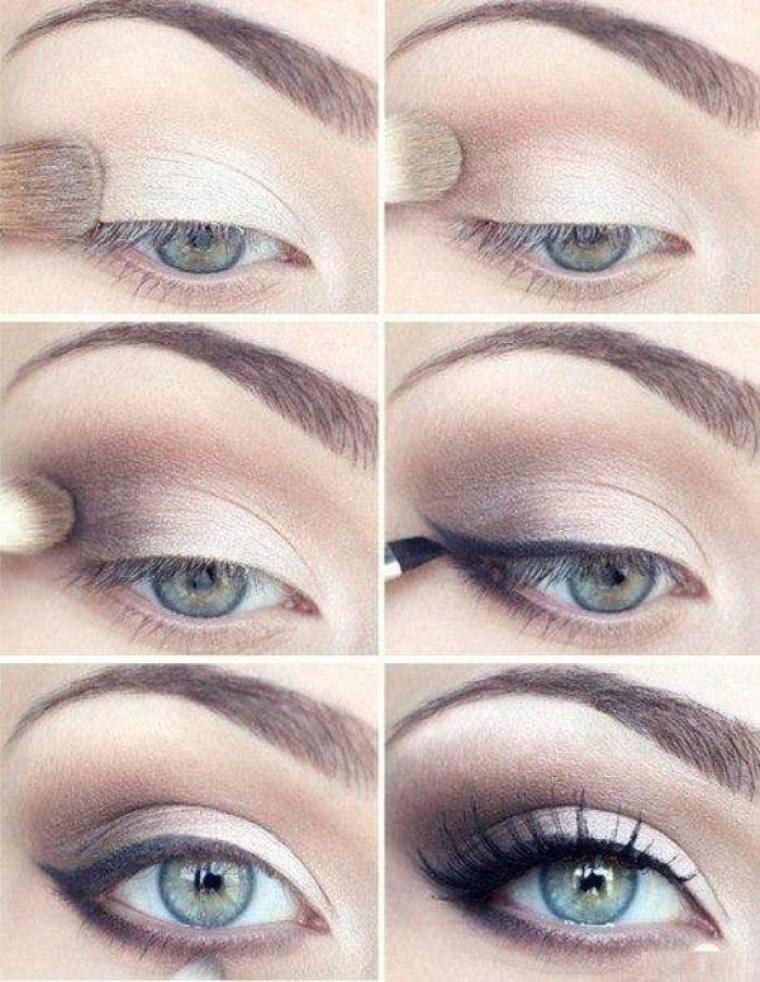 Пошаговая инструкция макияжа для серо-голубых глаз
