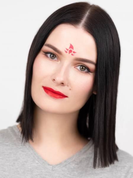 Вариант китайского макияжа для русской девушки после