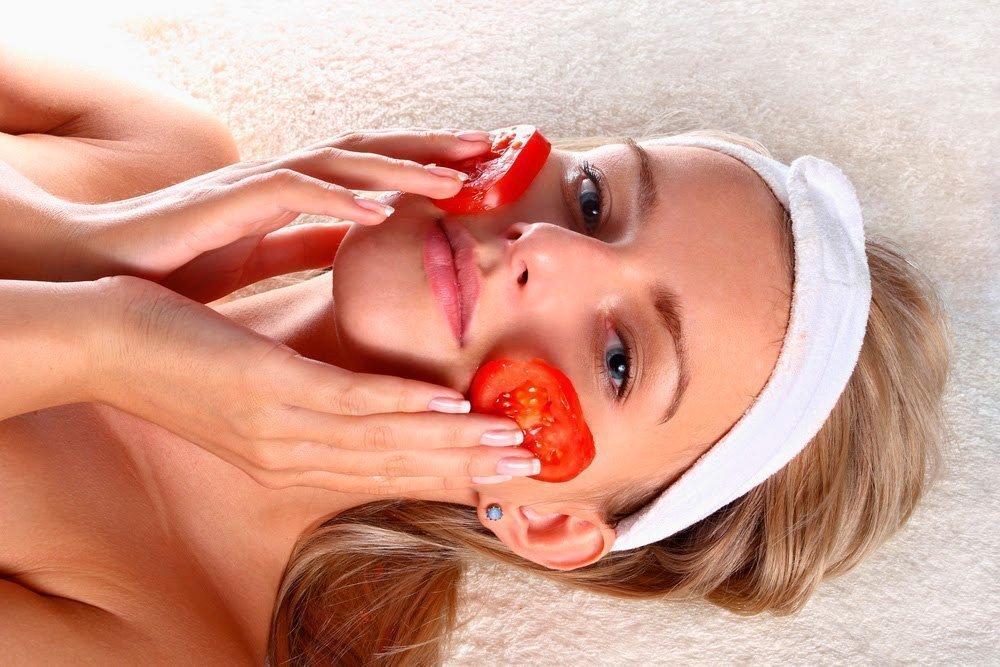 Популярны маски с помидорами