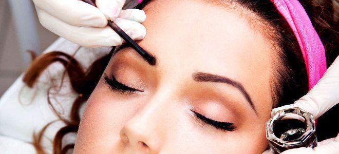 Окраска бровей хной в косметическом салоне