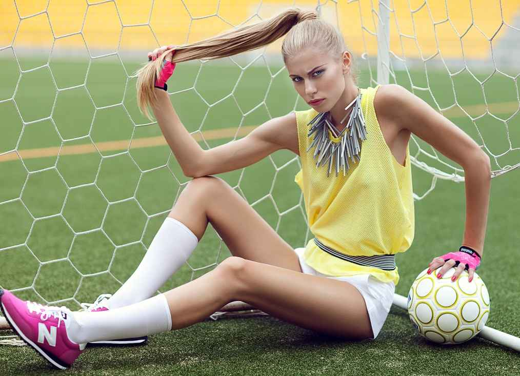 Макияж для спортивной фотосессии должен быть легким и естественным