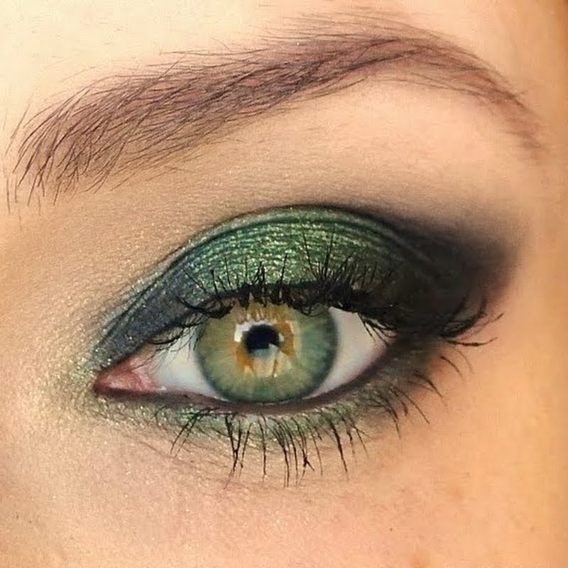 Make up в зеленых тонах
