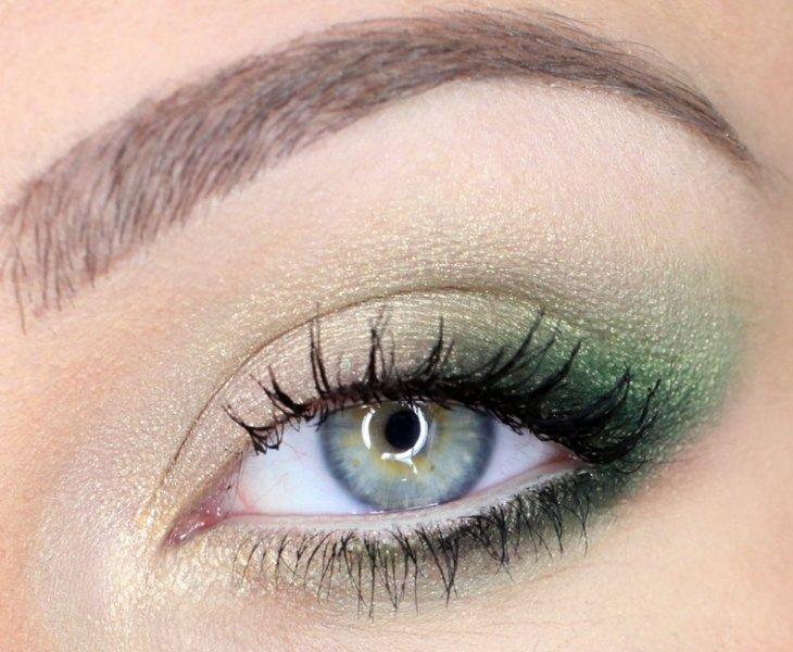 Макияж для зелено-серых глаз
