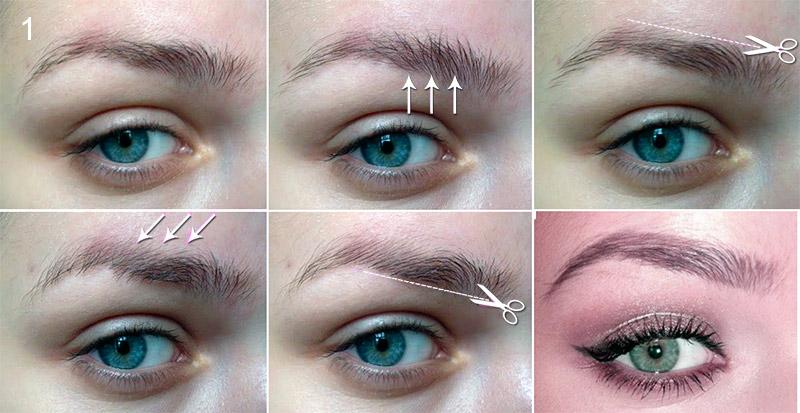 Процедура стрижки бровей