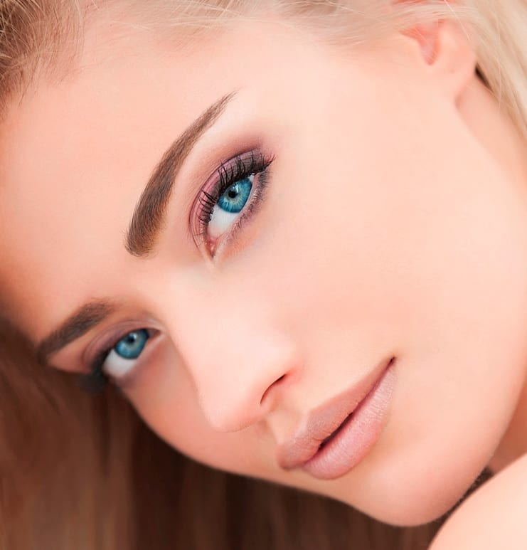 Мейкап для голубых глаз