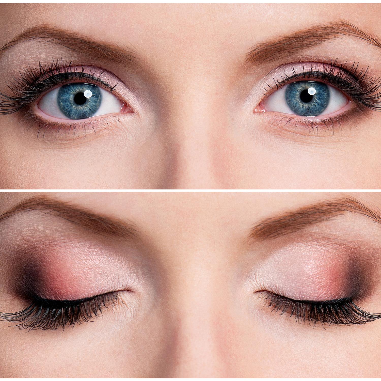 Вечерний макияж на серые глаза