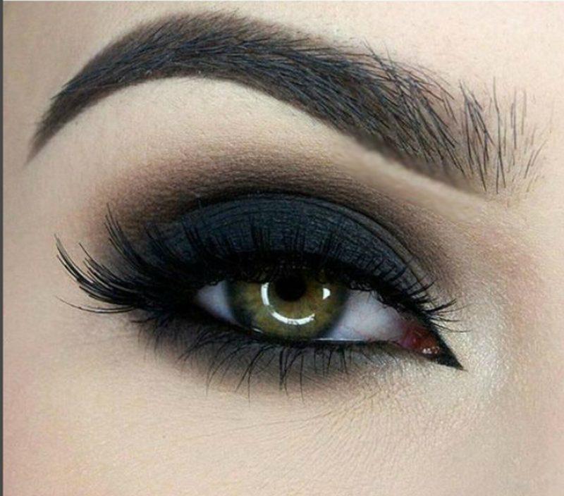 Использование чёрных теней для вечернего макияжа