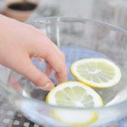 Ванночка с солью и лимоном