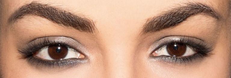 Пример подчеркнутости линии глаз