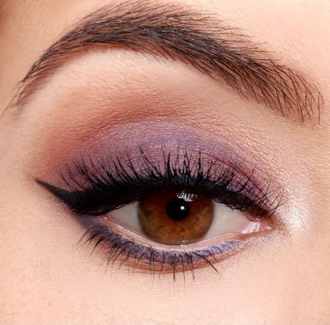 Макияж для карих миндалевидных глаз