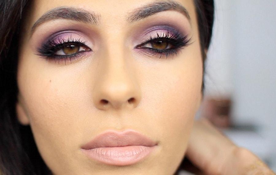 Фиолетовые тени для кареглазок