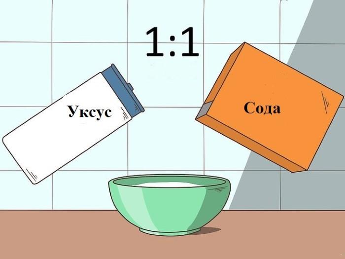 Отбеливание содой