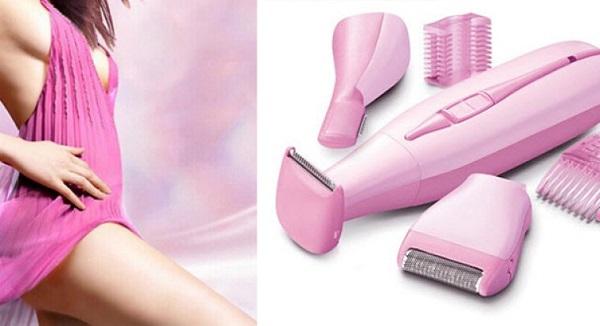 Женский триммер для бритья с насадками