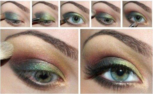 Русые волосы и зеленые глаза
