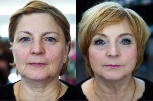 Дневной мейкап, до и после нанесения косметики
